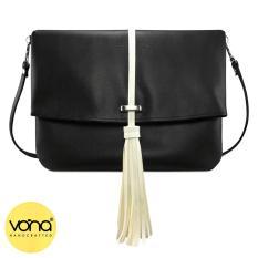 VONA Ferris (Hitam) - Tas Clutch Sling Tassel Rumbai Bag Selempang Wanita Kulit Sintetis