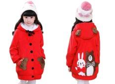 Vrichel Collection - Jaket anak perempuan Bear & bunny (merah)