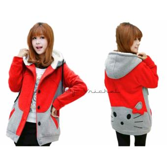 Vrichel Collection - Jaket Perempuan Kitty (Merah)