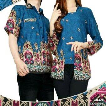 Batik Sutra Navy. Source · Jual Vrichel Collection - Kemeja Couple Batik (Biru)