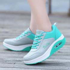 Wanita Fashion Sneakers Kasual Olahraga Sepatu Running Sepatu Berjalan Sepatu Fashion Sneakers Casual Sports Shoes Running Shoes Green