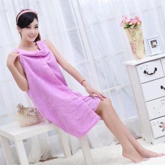 Wearable Towel - Baju Handuk Multifungsi UNGU