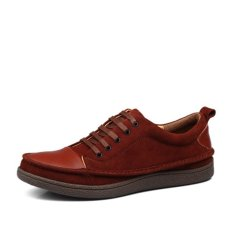 Winter Men Shoes Special Lines Handmade Genuine Leather Flat Shoe Durable True Leather Footwear Casual Chaussure Lumineuse (Intl)