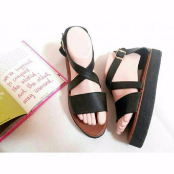 WK Fashion Sandal Casual Wanita Hits - Black