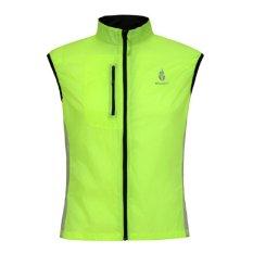 WOLFBIKE Cycling Windcoat Sportswear Men's Breathable Bike Jacket Sleeveless Vest Green (Intl)