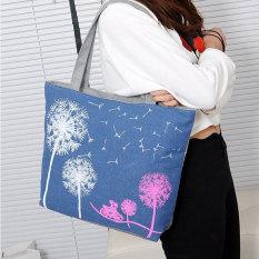 Woman Canvas Dandelion Tote Zipper Purse Fashion Lady Shoulder Handbag Bag - Intl