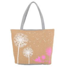 Woman Canvas Dandelion Zipper Wallet Fashion Lady Shoulder Handbag Bag - Intl