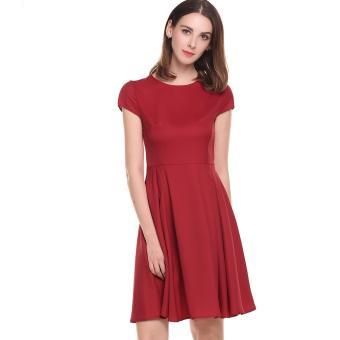 Pakaian Wanita · Dress Wanita · Midi Dress. Women Casual O-