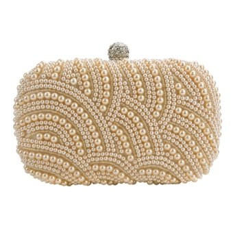 Women Clutch Bag Pearl Beaded Party Bridal Handbag Wedding Evening Purse