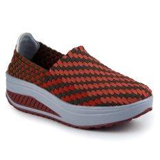 Women Fashion Casual Low-Top Height Increasing Shoes Riyuexing-032(Orange) - Intl