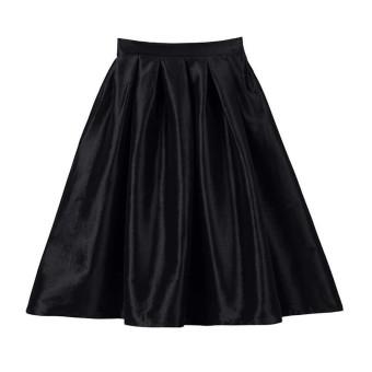 Women Flared Knee Length Skater Skirt Ladies Stretch Midi Party Office Work  Skirt - Intl fc84b6c72