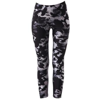 Women Lady Printed Leggings Skinny Pencil Pants Fashion Home Outdoor Sports Running Tights Casual Comfort Trousers