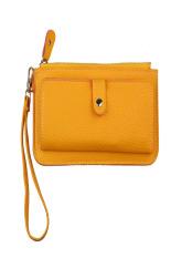 Women Purse Long Mobile Wallet Yellow