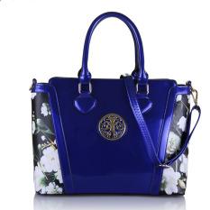 Women Top-Handle Bag Shoulder Bags PU Leather Handbags Solid Tote Bolsas Feminina Borse Female Herald Fashion Women Bag (Blue)