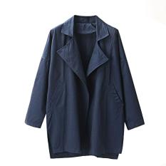 Women's Graceful Tailored Collar Coat (Blue) (Intl)