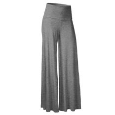 Womens Comfy Chic Boho Palazzo Gaucho Lounge Pant (Grey) (Intl)