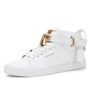 Women's Fashion High-top Sneakers Lock Shoes