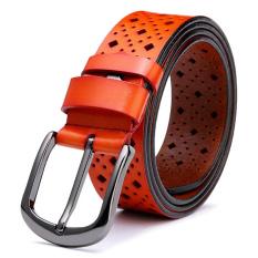 Womens Genuine Leather Belt Fashion Belts Orange