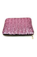 Women's Glitter Sparkling Bling Sequins Clutch Party Evening Bag Handbag Purse Pink