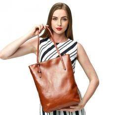 Women's Handbag Genuine Soft Leather Large Tote Shoulder Bag Hot Brown