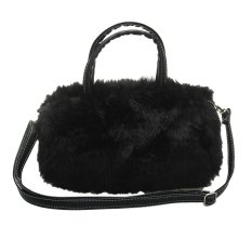Womens Ladies Handbag Fluffy Tote Shoulder Bag Winter Fashion