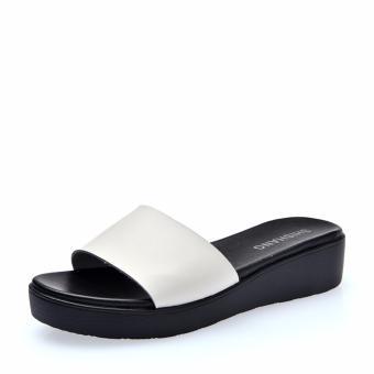 Womens Leather Slip-Ons Ladies Flat Slides Summer Sandals Shoes - intl