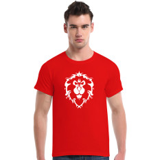 World Of Warcraft Lion Cotton Soft Men Short T-Shirt (Red) - Intl