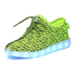 YAER Boy's LED Yeezy Boost Sneakers Green- Intl