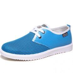 YINGLUNQISHI Men's Fashion Casual Mesh Sneakers Low Cut Shoes (DarkBlue) (Intl)