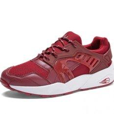 YINGLUNQISHI Men's Sporty Lace-Ups Flat Runnning Shoes J29 (Red) (Intl)