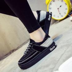 Yingmei New Fashion Street Chic Women Men Sneaker Canvas Shoes Low-cut Shoes Sports Shoes Sports Sneaker Casual Style-black-A1205-3 - Intl