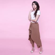 Yoorafashion Celana Panjang Wanita - Celana Katun - Celana Kerja Wanita - Supernova Bat Harem Pants - Coklat Muda