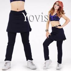 Yovis Cbr Rok Olahraga / Baju Senam Wanita - Navy