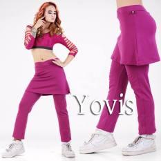 Yovis Cbr Rok Olahraga / Baju Senam Wanita - Ungu