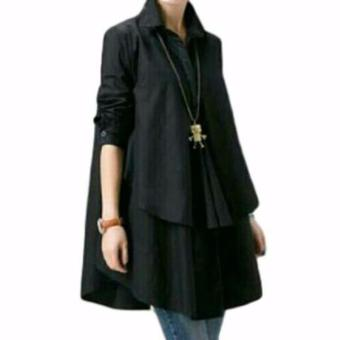 Yuki Fashion Blouse Hiraku - Hitam