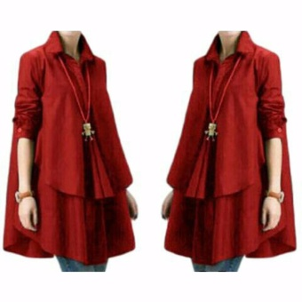 Yuki Fashion Blouse Hiraku - Merah