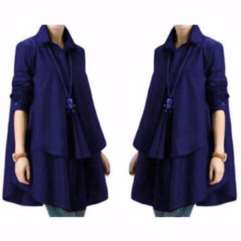 Yuki Fashion Blouse Hiraku - Navy