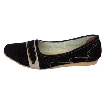 Yutaka Flat Shoes - Jeans Hitam