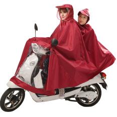 Yuxiang double Ukuran Plus tebal mobil listrik jas hujan jas hujan (Double Ukuran Plus cahaya