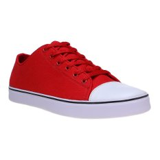 Zada Canvas Casual Sneakers - Merah