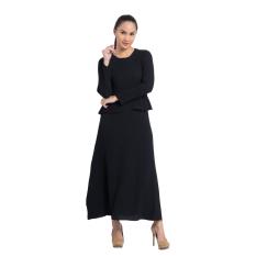 Zada Gamis Maxi Dress Peplum Dan Ruffle - Hitam