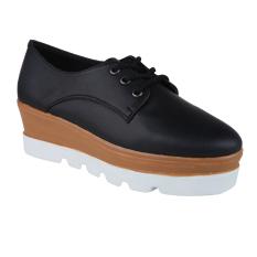 Zada Stella Platform Wedges Sneakers - Hitam