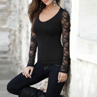 ... Kerah V Baju Lengan Panjang Source ZANZEA Blusas Wanita Seksi Elegan Blus Kemeja Wanita Lengan Panjang