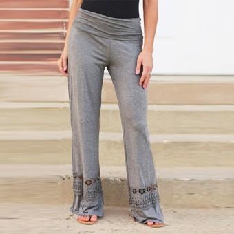 ZANZEA lebar kaki celana ukuran S-3 XL 2016 vintage fashion wanita celana panjang longgar