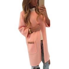 ZANZEA New 2015 Women Autumn Long Line Sleeve Cardigan Warm Overcoat Blazer Jacket Coat (Pink)