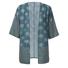 ZANZEA NEW Women Floral Short Sleeve Top Casual Loose Cardigan T-shirt Blouse Coat Cape
