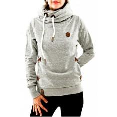 ZANZEA Winter Autumn Women Casua L Hoodies Sweatshirt Female Fashion Warm Hooded Tops Long Sleeve Loose Pullovers Plus Size Gray - Intl