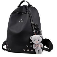 ZeeBee Fashion Oxford Teddy Backpack / Tas Ransel Wanita / Tas Fashion-Black