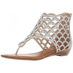 zigi soho womens melaa flat sandal silver mesh a us intl