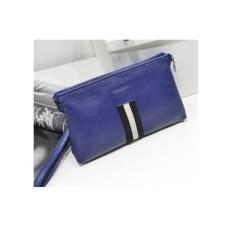 ZN23 Unisex Men Handbag Branded Stripe Korean Style - Biru